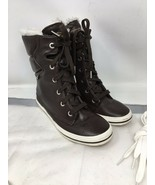 WOMENS Keds BROWN Leather  Fleece Lined High Top Sneaker Boots  8.5M Not... - $29.91