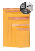 10500 Packs #00 5x10 Kraft Bubble Mailer Padded Envelopes Shipping Suppl... - $1,046.88