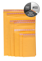 4500 pcs #00 Kraft Bubble Mailers 5x10 Padded Mailing Bags Self Seal 450... - $487.59