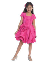 Stunning Girl's Fuchsia or Red Flower Girl Pageant Party Dress w/Bolero - $52.99