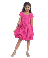 Stunning Girl's Fuchsia or Red Flower Girl Pageant Party Dress w/Bolero - €44,66 EUR