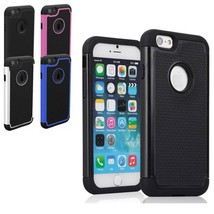 Heavy duty rugged armor case cover skin for iPhone 6 & screen protector tempered - $4.99+