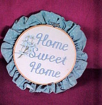"HOME SWEET HOME Embroidery Hoop Wall Art-8.5"" B... - $11.99"