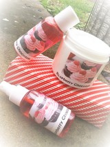 raspberry chocolate bath and body gift set, shower gel, shea lotion, bod... - $20.00