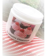 raspberry chocolate shea body lotion, skin care, raspberry chocolate cream - $8.00