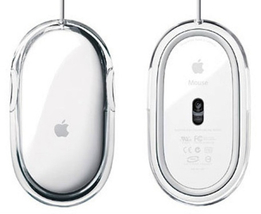 Genuine Apple Wired USB White/Clear Optical Mouse - $19.95