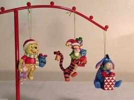 Disney Traditions 3 piece ornament set Winnie the Pooh