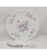Aynsley Little Sweetheart Cheese Plate and Knife 2 Piece Set English Bon... - $9.89