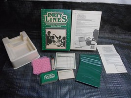 Old Vtg 1985 PARTY LINES A PROVOCATIVE & REVEALING BLUFFING GAME #0048 C... - $39.59