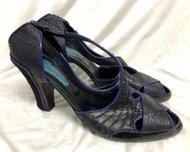 Bcbg Maxazria Schuhe Leder Schlange Riemchen Sandalen Pumps Größe: 11/41 - $27.73