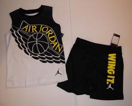 Nike Air Jordan Nike Boys 2 piece Shorts Outfit Size 4 NWT - $22.74