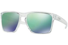 Oakley Occhiali da Sole Slive XL Trasparente W/ Giada Lente Iridium OO93... - $195.62