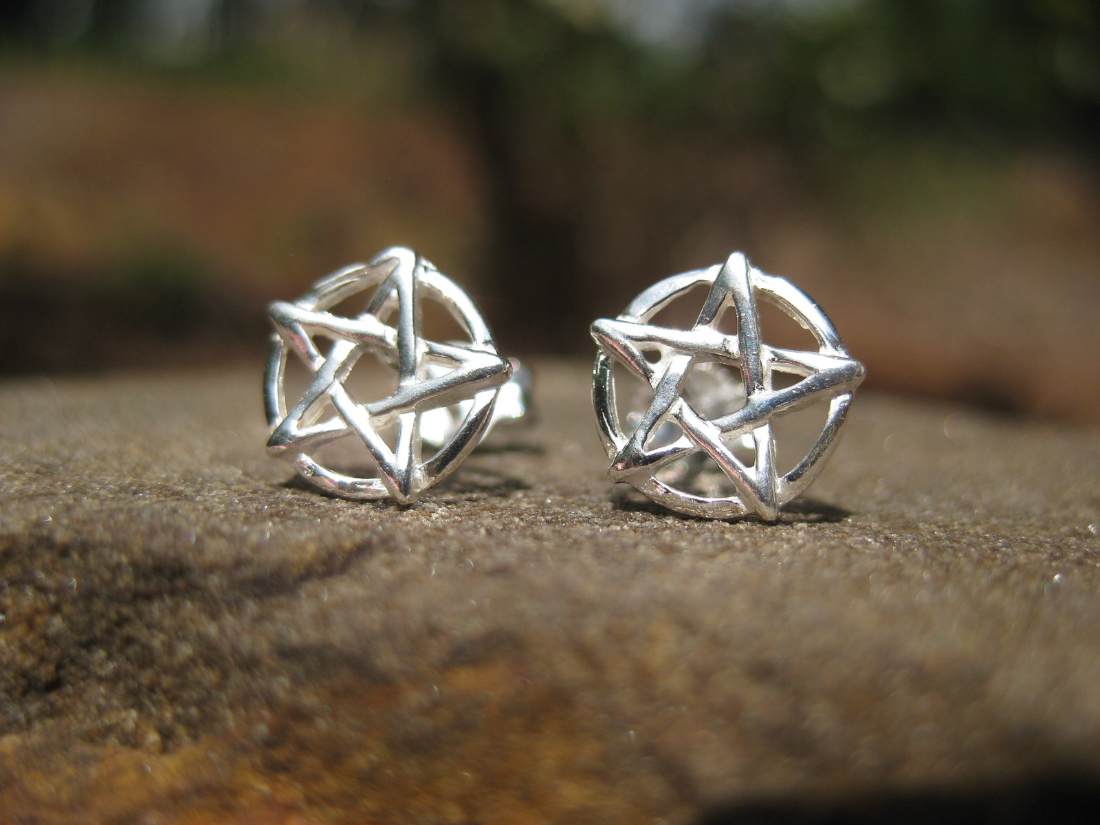 Primary image for Haunted Seal of Solomon Earrings All Spirits bow to your words