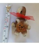 Wooden Cat lover mantel decoration vintage pre-owned - $8.90