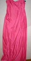 NWT New Designer Natori Satin M Gown Night Womens Pink Long Silky Adjust... - $104.00