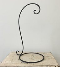"""(Pack of 2) 21"""" Tall Solid Iron Loop Hook on Round Base for Plants, Lant... - $42.50"""