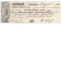R52c, R53c, R63c x 2 on Howes, Hyatt & Co., Boots-Shoes, NY 1866 Promiss... - $32.00