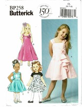 BUTTERICK PATTERN 258 CHILDREN'S/GIRLS' DRESS SIZE CL (6-8) - $7.98