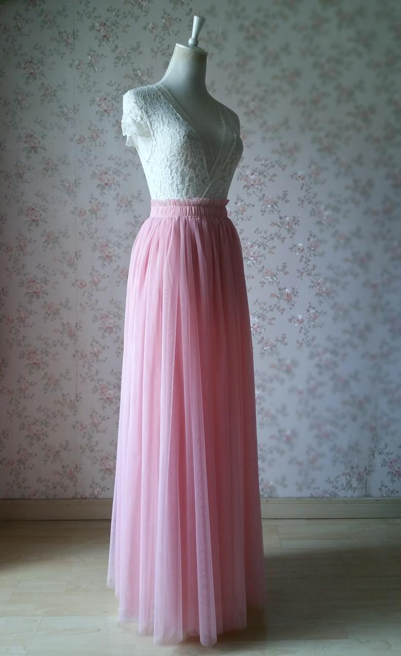 Rosepink 42 maxi tulle skirt 780 2