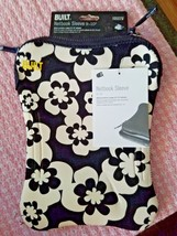 BUILT NETBOOK SLEEVE 9-10 INCHES BLACK AND WHITE FLORAL DESIGN NEW WITH ... - $12.86