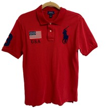 Polo Ralph Lauren Youth boys polo shirt red short sleeve size L 14-16 - $16.28