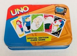 UNO Special Edition Card Game FAMILY GUY tin Brian Stewie Peter Lois Meg... - $15.72