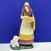 Thomas Kinkade figurine Kind and Gentle hawthorne village sheep lamb scu... - $38.51