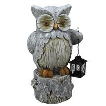 "Northlight 17"" Country Rustic Owl Lantern Tree Stump Christmas Table Top... - $32.66"