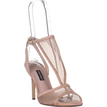 Nine West Manchon Stiletto Heel Sandals, Natural Multi Fabric, 7.5 US - $42.61