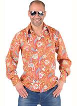 60's / 70's - Orange Paisley Shirt  - $31.74+