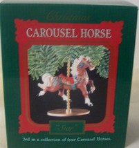 New Hallmark Dated 1989 Ornament Star Carousel - $14.80