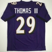 New EARL THOMAS Baltimore Purple Custom Stitched Football Jersey Size Me... - $49.99