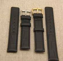 New Gucci 16 MM Black Genuine  Crocodile Leather Watch Band  - Generic(16.103GC) - $32.95+