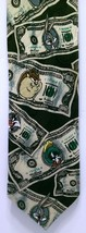 Looney Tunes Money Tie Toons Benjamins Hundred Dollars Bugs Bunny Taz Ri... - $12.61