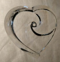 STEUBEN Glass HEART rare signed collectible crystal LOVE paperweight - $494.99
