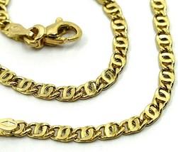"""18K YELLOW GOLD BRACELET WAVY TYGER EYE LINKS 2.8mm, 0.11"""" LENGTH 19cm, 7.5"""" image 2"""