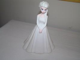 Peachtree Playthings Tall White Plastic Disney Elsa Princess in White Dr... - $12.19