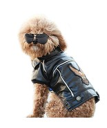 NACOCO Pu Leather Motorcycle Jacket for Dog Pet Clothes Leather Jacket, ... - $12.99+