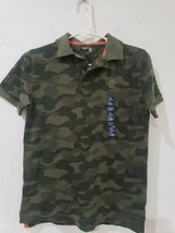Gap Kids Boys Camo Polo Shirt Size L 10-11yrs Nwt - $12.99