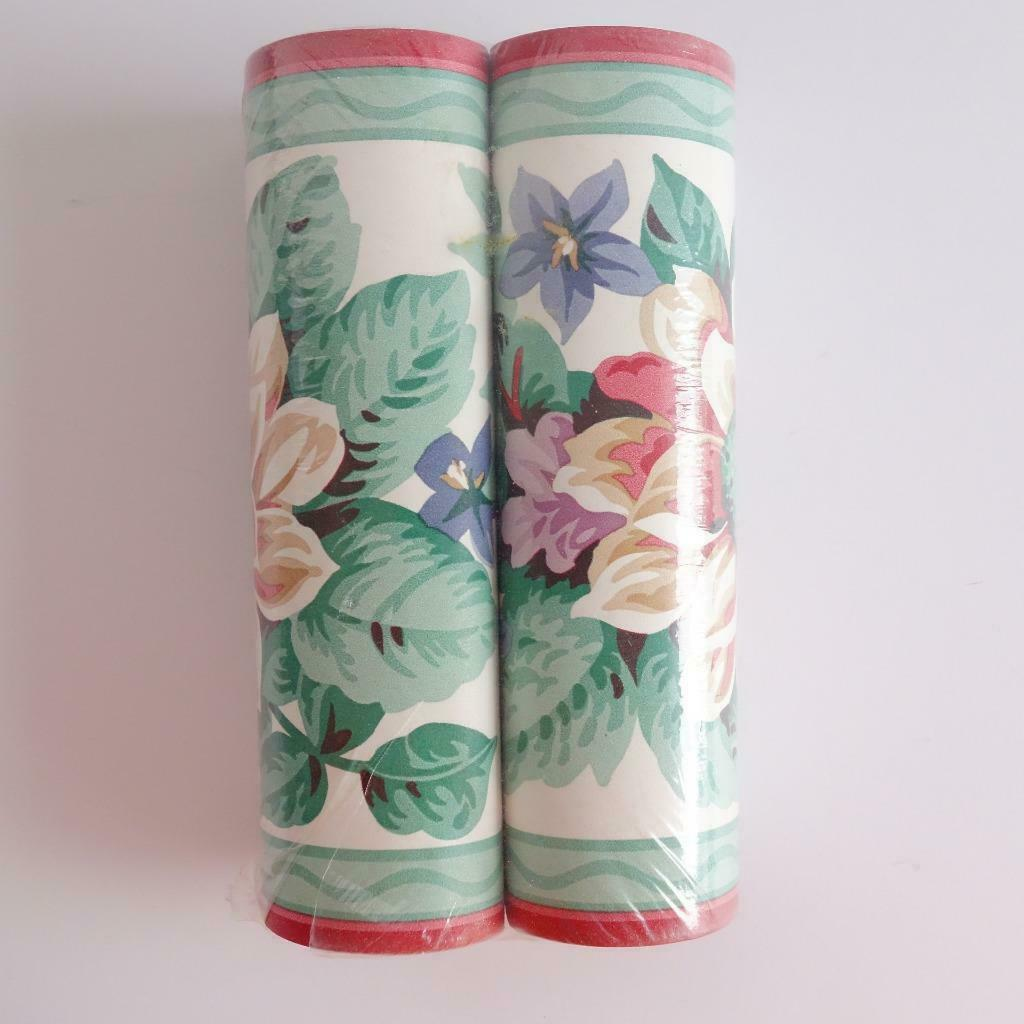 Primary image for Floral Wallpaper Border 2 Rolls New in Package