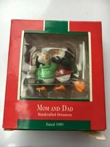 Mom and Dad Hallmark Keepsake Christmas Ornament from 1989 With Original... - $14.55