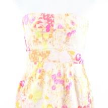 Multicolor floral print 100% cotton J. CREW sun dress 6 image 2