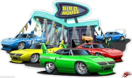 1970 Superbird Bird House Car Dealer Cartoon Wall Graphic Decal Vintage ... - $24.74