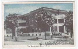 Belrockton Hotel Belding Michigan 1920s postcard - $5.94