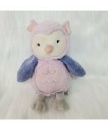 "9"" Carters Purple Plush Owl  Bird Baby Lovey Lavender 66859 Stuffed Toy B65 - $19.97"