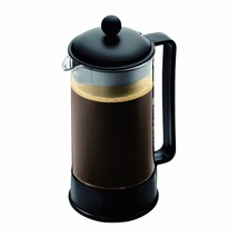 Bodum Brazil French Press Coffee Maker, 34 Ounce, 1 Liter, 8 Cup, Black - £15.85 GBP