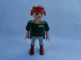 Vintage 1992 Geobra Playmobil Yellow Green Zoo Keeper Trainer Figure - $1.96