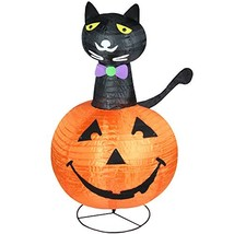 Northlight Pre-Lit Black Cat on a Pumpkin Halloween Yard Art Decoration,... - €61,26 EUR