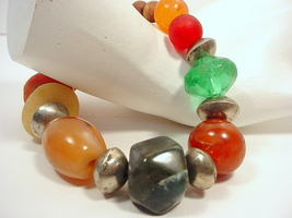 Old African Trade Bead Bracelet of Mixed Types of Beads - $75.00