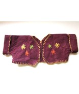 Vintage Hand Made Embroidered Teddy Bear Jacket Ethnic Folk Traditional ... - $8.00